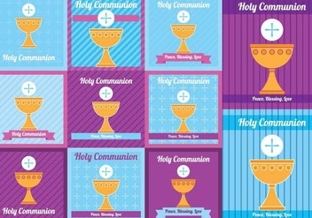 Holy Comunion Card - vector gratuit #373123