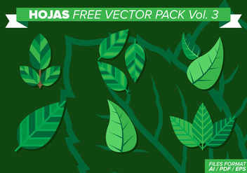 Hojas Free Vector Pack Vol. 3 - Free vector #373133