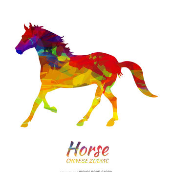 Chinese horoscope horse illustration - Free vector #373183