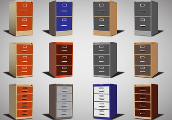 File Cabinet Vector set - бесплатный vector #373223