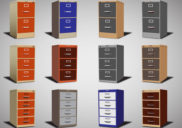 File Cabinet Vector set - Kostenloses vector #373223