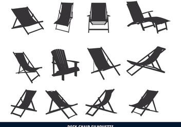 Deck Chair Silhouette - vector #373233 gratis