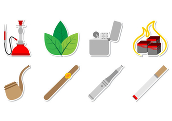Free Tobacco Stuff Icon Vector - vector gratuit #373263