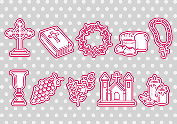 Eucharist icons - Free vector #373313