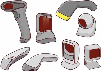 Barcode Scanner Set - vector gratuit #373333