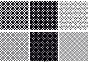 Seamless Crosshatch Vector Patterns - Free vector #373353