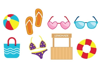 Free Beach Flat Icons - vector #373383 gratis