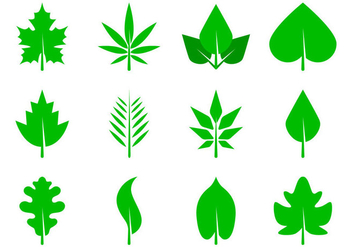 Free Leaves Icon Vector - Kostenloses vector #373443