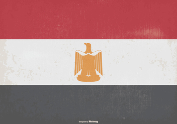 Vintage Flag of Egypt - Kostenloses vector #373453
