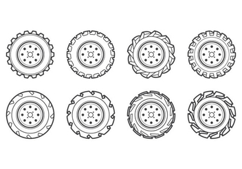 Free Tractor Tire Icon Vector - бесплатный vector #373493