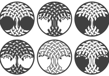 Celtic Tree Logo Set - Kostenloses vector #373573