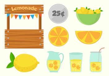 Free Lemonade Stand Vectors - бесплатный vector #373703