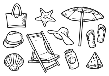 Free Beach Hand drawn Icons - Free vector #373733