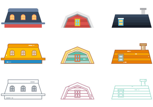 Free Rooftops Vector 4 - Free vector #373773