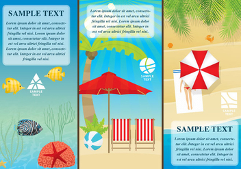 Beach Flyers - vector gratuit #373783