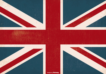 Old Grunge United Kingdom Flag - Kostenloses vector #373793