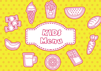Kids menu icon - vector gratuit #373823