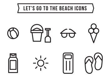 Beach Icons - vector #373843 gratis