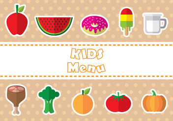 Kids menu icon vectors - vector gratuit #373853
