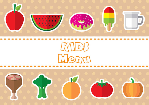 Kids menu icon vectors - Free vector #373853