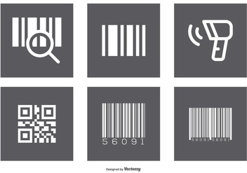 Assorted Barcode Icon Set - Free vector #373903