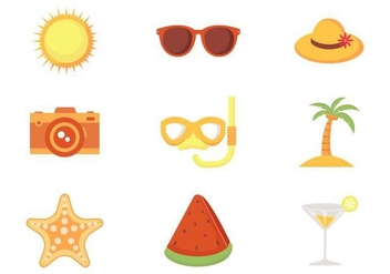 Free Beach Theme Vector - бесплатный vector #373953