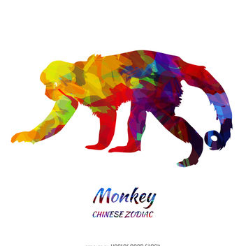 Chinese Zodiac Monkey - Free vector #373983
