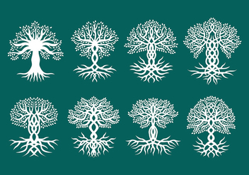 Celtic Trees Vectors - Free vector #374033