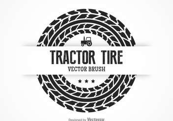 Free Tractor Tire Vector Brush - vector gratuit #374073