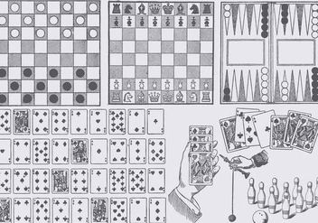 Board Game Drawings - бесплатный vector #374083