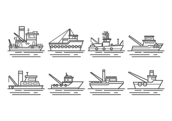Free Tugboat Vector - Free vector #374103