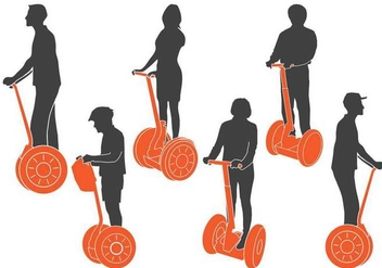 Segway Silhouettes - vector #374113 gratis