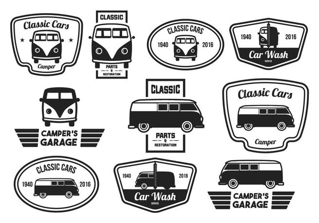 Vintage Label Classic Car - vector gratuit #374123