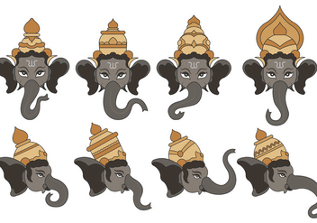 Set Of Ganesh Vector - vector gratuit #374143