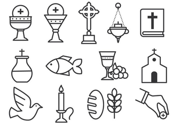 Free Sacraments Icon Set - vector gratuit #374153