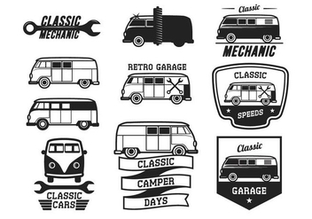 Free Classic Cars Vintage Label - Free vector #374193