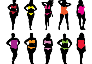 Swim Suit Women Vectors - vector gratuit #374233