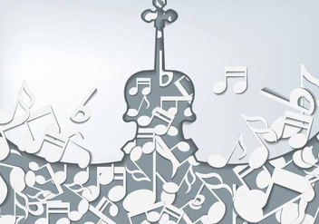Violin With Notes Background - бесплатный vector #374323