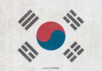 Grunge Flag of South Korea - vector #374353 gratis