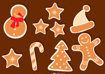 Christmas Ginger Bread Collection - vector gratuit #374393