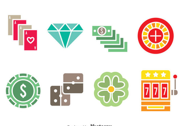 Casino Element Colors icons - vector #374403 gratis