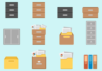 Free File Cabinet Vectors - Free vector #374413