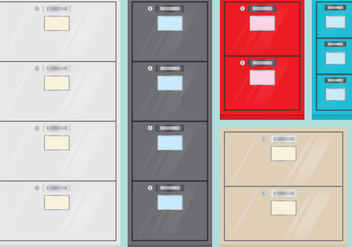 File Cabinets - Free vector #374433