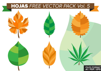 Hojas Free Vector Pack Vol. 5 - Free vector #374483