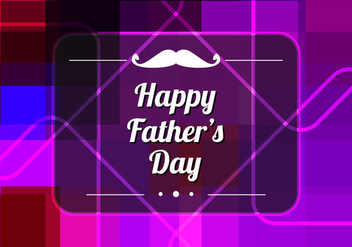 Free Vector Colorful Father's Day Background - Free vector #374523