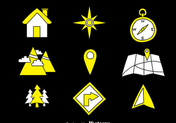 Map Legend Hand Draw Icons - Free vector #374533
