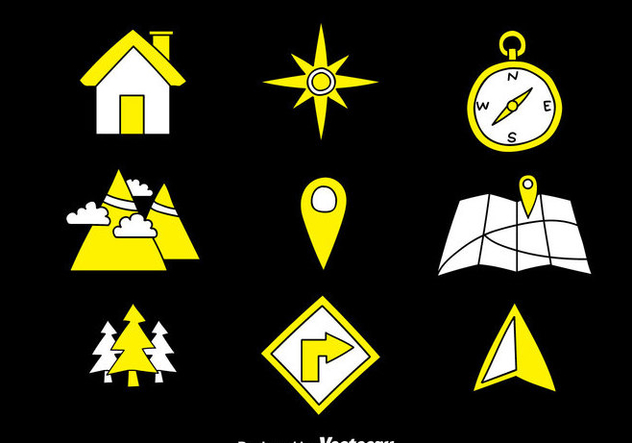 Map Legend Hand Draw Icons - vector #374533 gratis