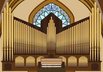 Vector illustration of pipe organ - vector gratuit #374573
