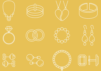 Jewelry Icons - vector #374583 gratis