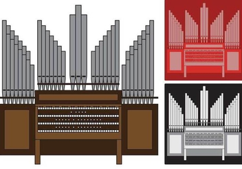 Pipe Organ illustration - vector gratuit #374613